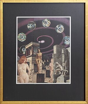MAX WALTER SVANBERG, a signed and dated collage.