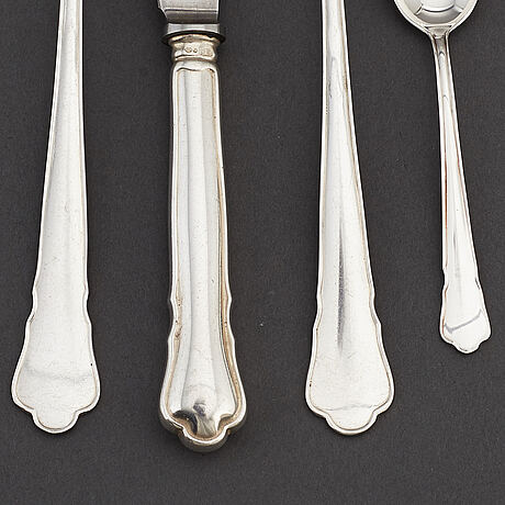 A silver cutlery, 'chippendale' gab, some stockholm 1964.