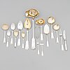 A 52-piece set of silver cutlery with seashell decoration, finnish hallmarks 1922-1949.