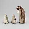 A group of three gunnar nylund figurines, rörstrand, mid 20th century.
