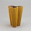 Gunnar nylund, three stoneware vases, rörstrand, sweden 1930-40's.