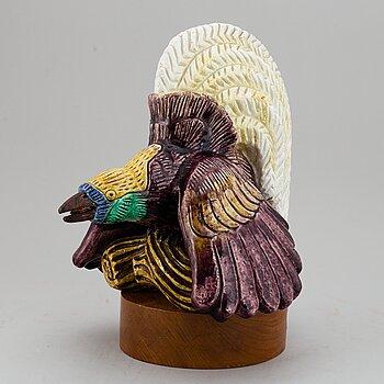 GUNNAR NYLUND, a stoneware sculpture of a bird, Rörstrand, Sweden, ed 97/100.