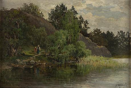Josefina holmlund, oil on canvas, signed.