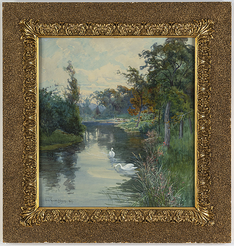 Anna gardell-ericson, watercolour, signed and dated 1907.
