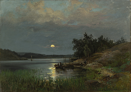 Josefina holmlund, oil on canvas, signed and dated 1881.