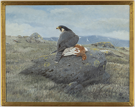 Lennart sand, oil on canvas, signed and dated -01.
