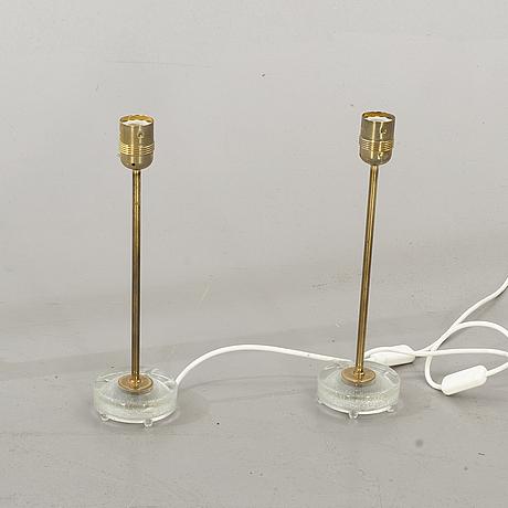 Bordslampor, ett par, bordslampor, modellnr 6275, falkenberg belysning.