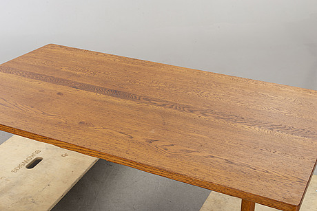 An oak coffee table mid 20th century.