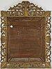 A large barocque style mirror, italy, circa 1900.