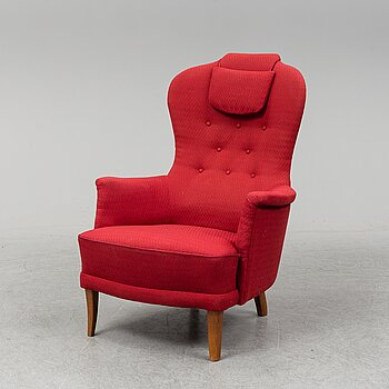 A second half of the 20th Century 'Farmor' easy chair by Carl Malmsten.