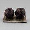 Pg thelander, skulptur, patinerad brons och metall. signerad och numrerad ÄÄ xi.