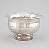 A swedish 20 th century silver bowl, mark of mema, lidköping 1988.