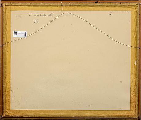 Max walter svanberg, collage, signerad och daterad 81.