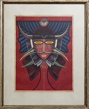 MAX WALTER SVANBERG, a signed and numbered colour lithograph.