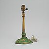 An art nouveau bronze table light, böhlmarks, early 20th century.
