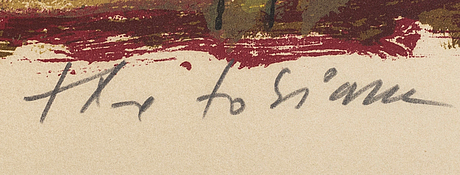 Theo tobiasse, a lithograph in color, numbered 82/350 and signed.