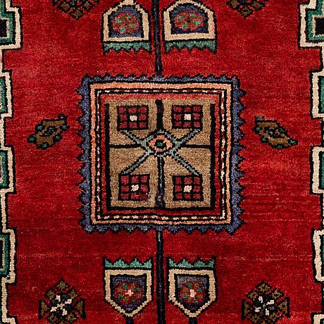 A carpet, old west persian,  ca 256 x 135 cm.