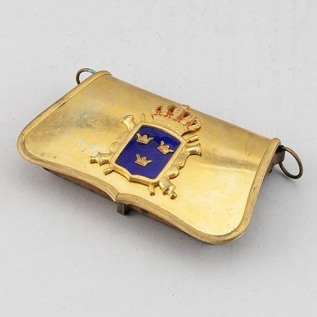 A swedish artillery officer's cartridge box 1859 pattern.