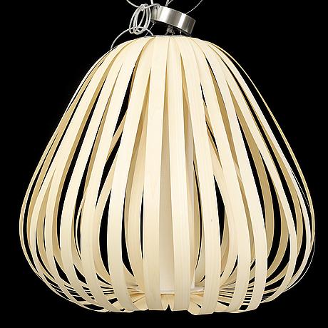 Buckhard dÄmmer, a 'poppy' birch veneer ceiling light lzf, spain.
