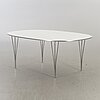 """Bruno mathsson / piet hein, a danish """"superellips"""" dining table for fritz hansen. 1987."""