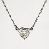 Heart shaped diamond pendant, with gia report.