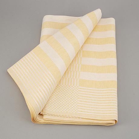 """A swedish handwowen linen tablecloth """"gästabud"""", klässbols linneväveri, sweden."""
