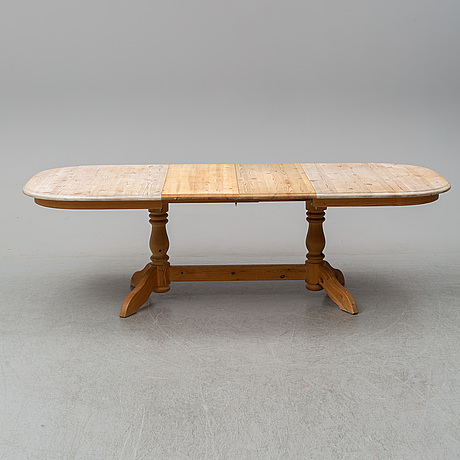 A danish pine table from the second half of the 20th century.