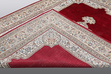 A carpet, old kerman, ca 340 x 240 cm.