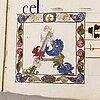 Chansonnier, pergament, ca 1500-1600-tal.
