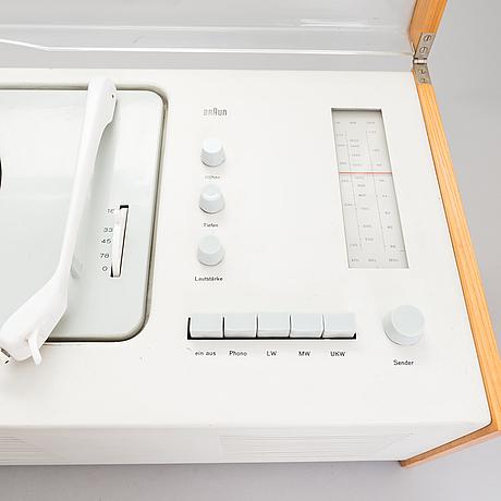 "Radiogrammofon, ""phonosuper sk-5"", hans gugelot & dieter rams, braun ag, tyskland, 1950-60-tal."