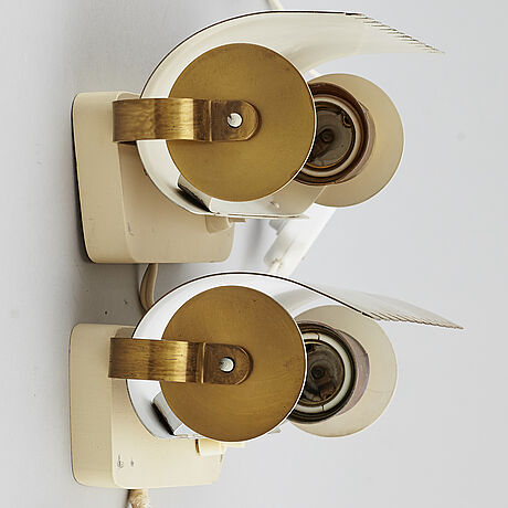 Bertil brisborg, a pair of wall lights from nordiska kompaniet.