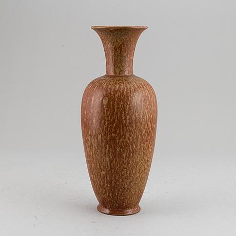 Gunnar nylund, a stoneware vase, rörstrand, sweden, mid 20th century.