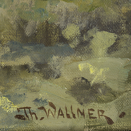 Thure wallner, oil on canvas, signed.