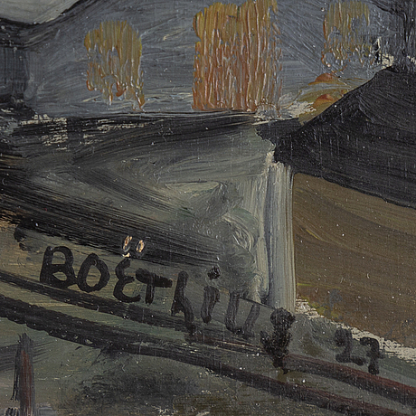 Lars boËthius, oil on panel, signed and dated -27.