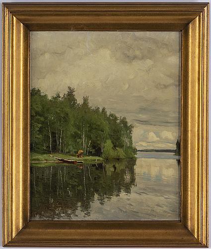 Olof arborelius, oil on canvas.