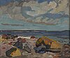 Harald lindberg, oil on canvas, signed.