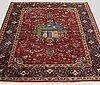 An tabriz rug, probably ca 204 x 141 cm.