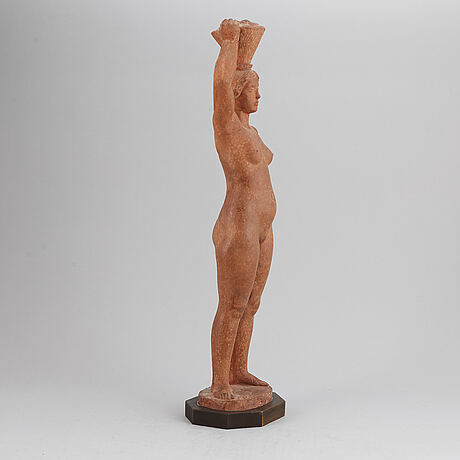 Eric grate, sculpture, plaster, signed.