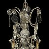 A rococo style chandelier, mid 20th century.