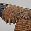 Tyra lundgren, a stoneware sculpture of a rooster, gustavsberg, sweden 1940-50's.