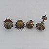DÖrrhandtag, 4 st, brons, 1800-/1900-tal.