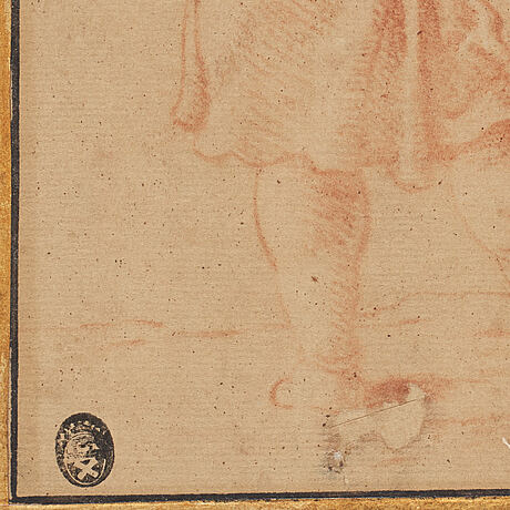 Pompeo girolamo batoni, circle of. unsigned. counterproof, image: 17 x 10.5 cm.