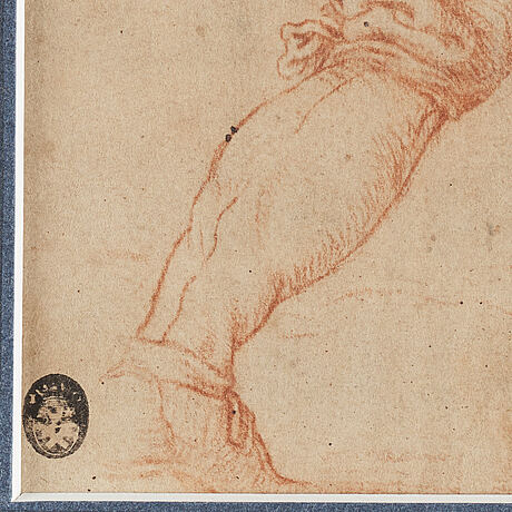 Unknown artist 17th century, unsigned. red crayon, image: 19.5 x 14 cm.