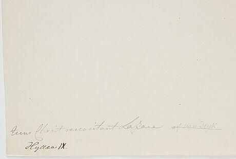 Peter paul rubens, hans efterföljd. osignerad.  akvarell och tuschlavering 25,5 x 33 cm.