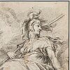 Hendrick goltzius after, minerva. unsigned. crayon 35.5 x 28 cm.