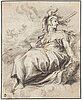 Hendrick goltzius efter, hendrick goltzius, efter. osignerad. kolkrita 35,5 x 28 cm.