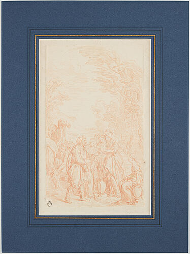 Italiensk skola 1700-tal, osignerad. rödkrita, bildyta 30 x 18 cm.