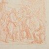 Italian school 18th century, unsigned. red crayon, image: 30 x 18 cm.