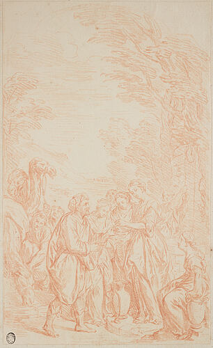 Italian school 18th century, unsigned. red crayon, image: 30 x 18 cm.