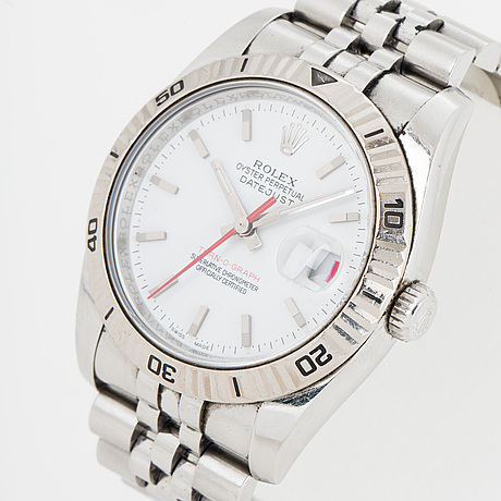 Rolex, oyster perpetual datejust, turn-o-graph, armbandsur, 36 mm.